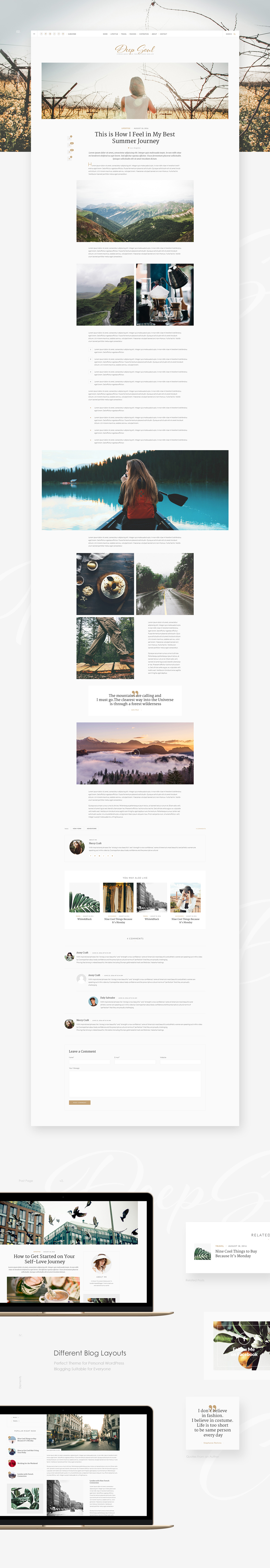 Deep Soul - Lifestyle Blog & Shop WordPress Theme