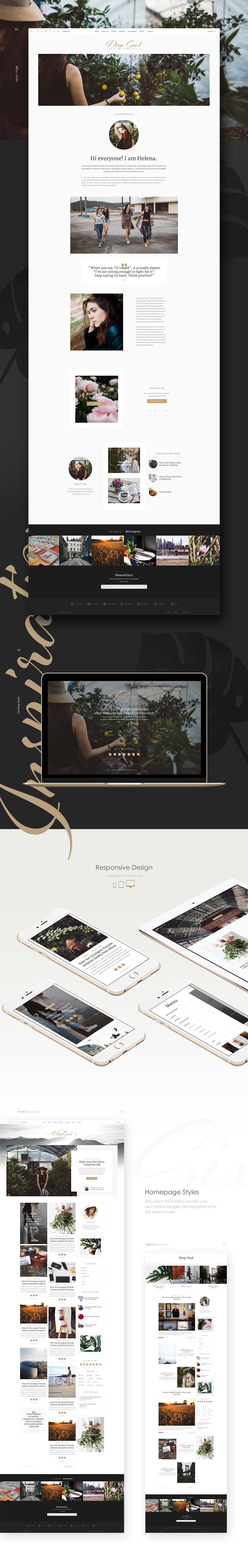 Deep Soul - Lifestyle Blog & Shop WordPress Theme